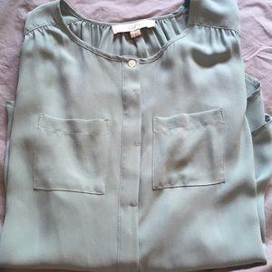 Ann Taylor Light Blue Shirt XS
